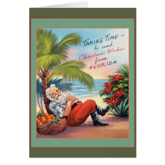 Cartão Desejos do Natal de Florida!