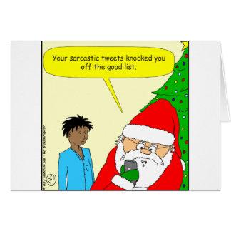 Cartão desenhos animados sarcásticos dos tweets x75