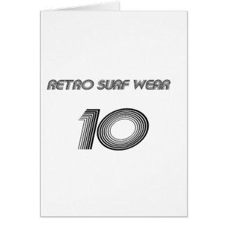 Cartão Desgaste retro do surf