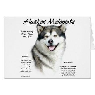 Cartão Design da história do Malamute do Alasca
