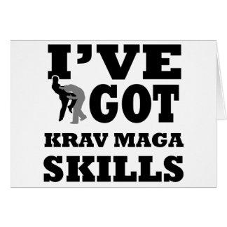 Cartão Design das artes marciais de Krav Maga