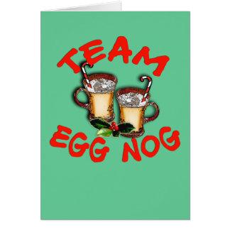Cartão Design do feriado da gemada da equipe