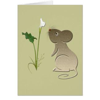 Cartão Design do lírio bonito do rato e de Calla