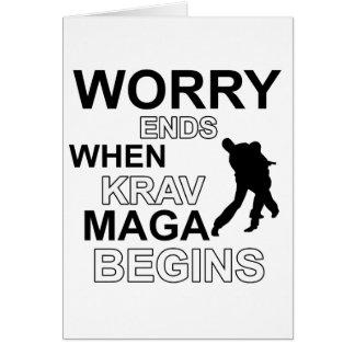 Cartão Design do maga de Krav