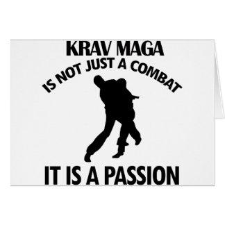 Cartão DESIGN legal de KRAV MAGA