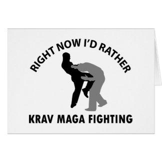 Cartão design legal do maga de Krav