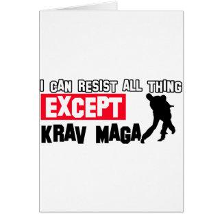 Cartão design marcial do maga do krav
