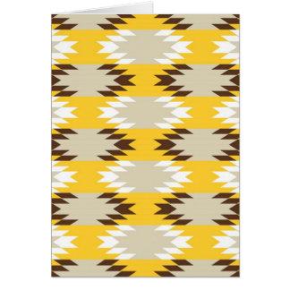 Cartão Design tribal asteca do nativo americano de Brown
