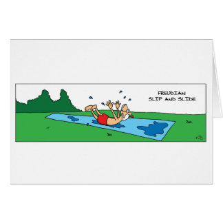 Cartão Deslizamento freudiano e corrediça