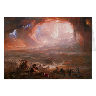 Cartão Destruição de Pompeii e de Herculaneum