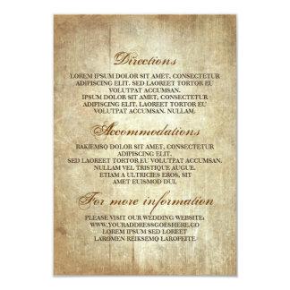 Cartão Detalhes de madeira rústicos do casamento -
