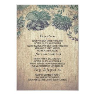 Cartão Detalhes de madeira rústicos do casamento dos