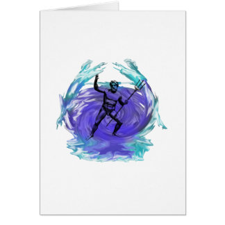 Cartão Deus de Poseidon do mar 1
