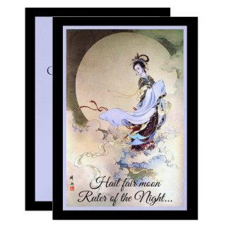 Cartão Deusa Chang'e da lua