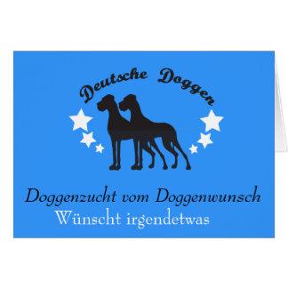 Cartão Deutsche Doggen