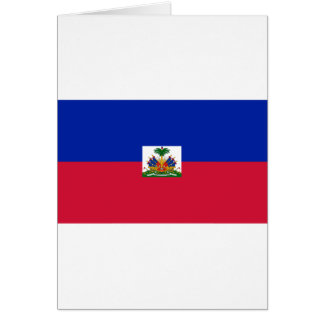 Cartão d'Haïti de Drapeau - bandeira de Haiti