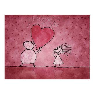 cartão, dia dos namorados, amor, coração cartão postal