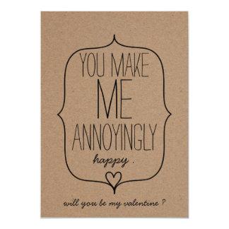 Cartão Dia dos namorados engraçado do coração bonito do