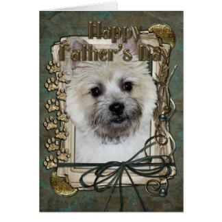Cartão Dia dos pais - monte de pedras Terrier - urso de