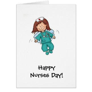 Cartão Dia feliz das enfermeiras - anjo no disfarce