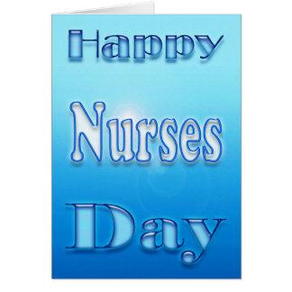 Cartão Dia feliz das enfermeiras floral