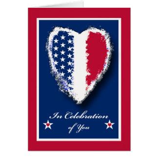 Cartão Dia militar feliz da apreciação do esposo, coração