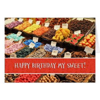 Cartão Dia o mais doce feliz Cand colorido Assorted