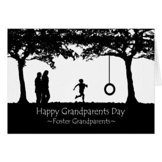 Cartão Dia para avós adoptivas, balanço das avós