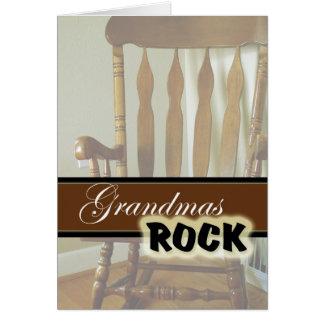 Cartão Dia Rocha-Feliz das avós das avós