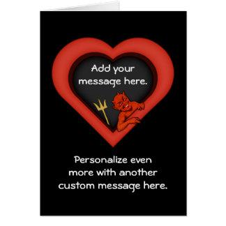 Cartão Diabo do amor