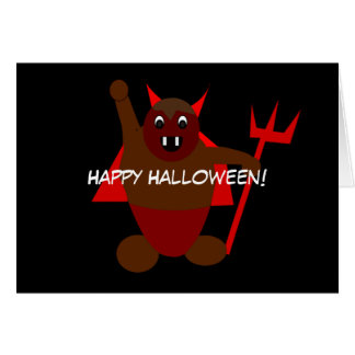 Cartão Diabo do Dia das Bruxas