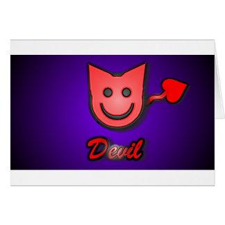 Cartão Diabo pequeno