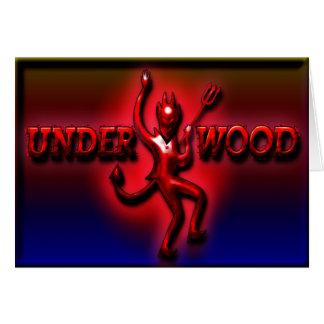 Cartão Diabo vermelho do presunto do Underwood II C de