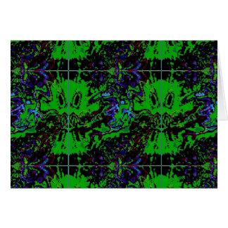 Cartão Diabos pequenos verdes