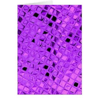 Cartão Diamante roxo Amethyst metálico brilhante da uva