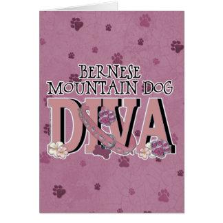 Cartão DIVA do cão de montanha de Bernese