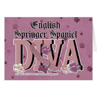 Cartão DIVA do Spaniel de Springer inglês