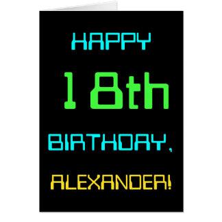 Cartão Divertimento Digital que computa o 18o aniversário