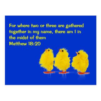 cartão do 18:20 de matthew