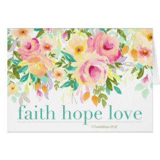 Cartão do amor   da esperança da fé