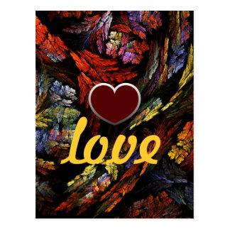 Cartão do amor da harmonia da cor cartão postal