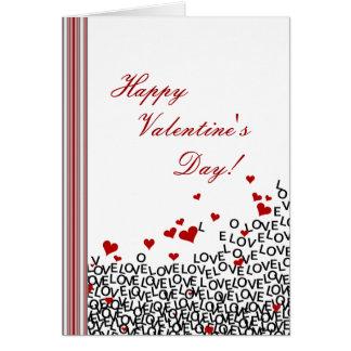 Cartão do amor do dia dos namorados