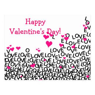 Cartão do amor do dia dos namorados cartoes postais