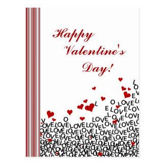 Cartão do amor do dia dos namorados cartão postal