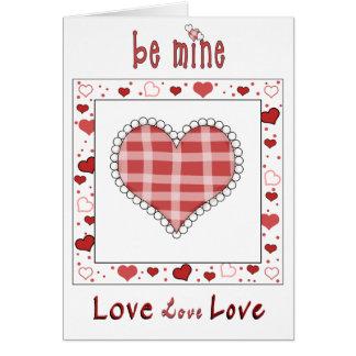 Cartão do amor dos corações do dia dos namorados