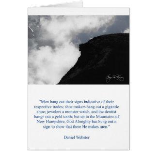 Cartão do ancião de Daniel Webster