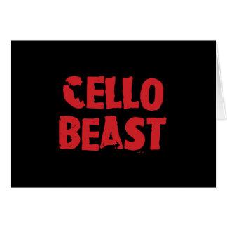Cartão do animal do violoncelo