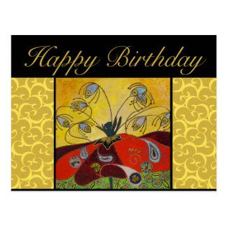 cartão do aniversário - acorde na pintura do alvor cartoes postais