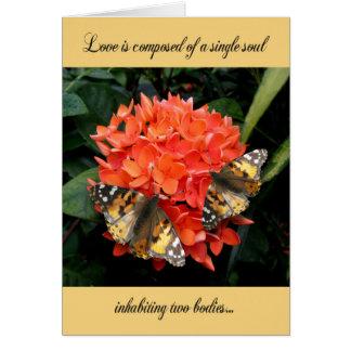 Cartão do aniversário de casamento - o amor é