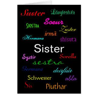 """""""Cartão do aniversário de uma irmã"""" - customizável"""